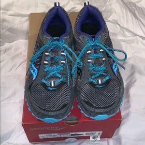 Saucony Shoes - SAUCONY Women's Grid Excursion TR9 Grey/Blue